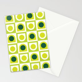 Geometric Pattern #210 (lime green) Stationery Cards