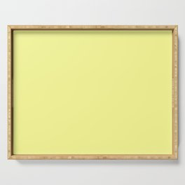 Soft Chalky Pastel Yellow Solid Color Serving Tray