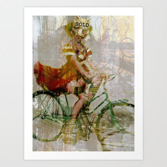 Speeding Down the Street, Devilish. Art Print