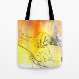 Watercolor Hands Tote Bag