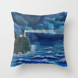 Split Rock Lighthouse, Duluth, MN Throw Pillow