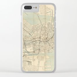 Vintage Downtown Boston Subway Map (1917) Clear iPhone Case