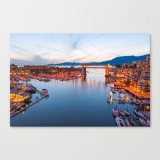 Vancouver Sunset Canvas Print