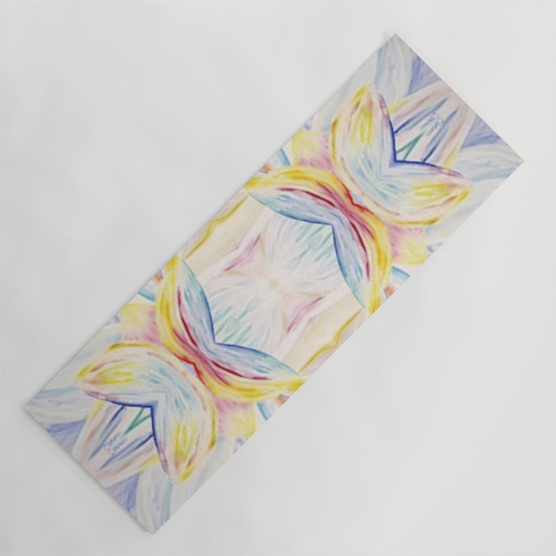Opal Lotus Yoga Mat By Courterbearart Society6