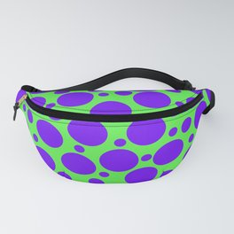 Polka Dots in Lime Green and Purple Fanny Pack