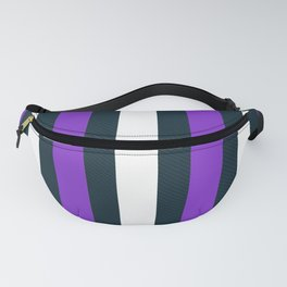 Modern Decorative Purple White Vertical Pattern Stripe Fanny Pack