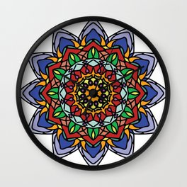 Laniakea in Bloom | Flower Mandala Wall Clock