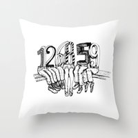numbers Throw Pillows featuring Numbers by Ilya kutoboy