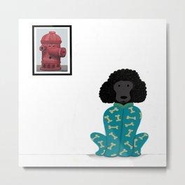 Poodle in a Onesie Metal Print