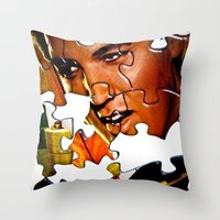 gentleman Throw Pillows featuring Gentleman by Rick Staggs