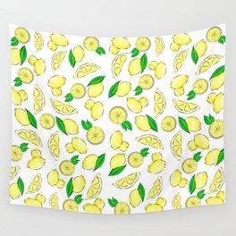 Lemon Pattern Wall Tapestry