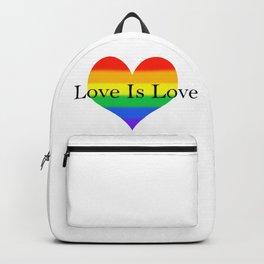 Love Is Love Rainbow Pride Heart Backpack