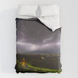 Summer Storm Over Brisbane Comforters