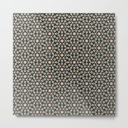 Vintage retro flower background pattern Metal Print