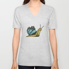 Snail City Unisex V-Neck