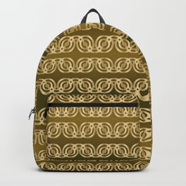 Chained Circles in gold/green Backpack