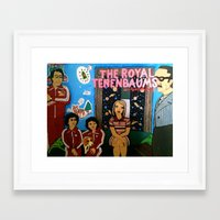 tenenbaums Framed Art Prints featuring Royal Tenenbaums by L. Chacon