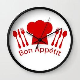Bon Appetit! Wall Clock