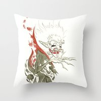 dracula Throw Pillows featuring Dracula by JoJo Seames