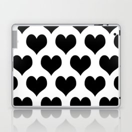 White Black Heart Minimalist Laptop & iPad Skin