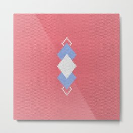 Wool diamonds 01  Metal Print