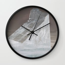 Rock in the sea Wall Clock