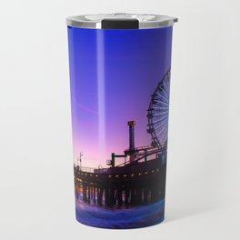 Santa Monica purple sunset Travel Mug