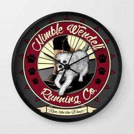 Nimble Wendell Running Co. (Contemporary Logo) Wall Clock