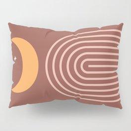 Midcentury Rainbow Moon Pillow Sham
