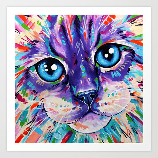 Cats in Colour 1 Art Print