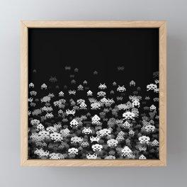 Invaded BLACK Framed Mini Art Print