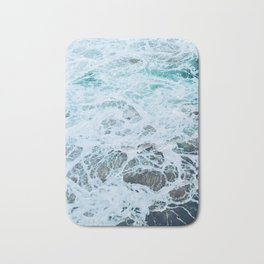 Static Sea Waves Bath Mat