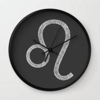 leo Wall Clocks featuring Leo by David Zydd