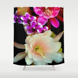 Pinkish, Pinker, And Far Out Pink Shower Curtain