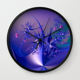 The dance of flowers Wall Clock