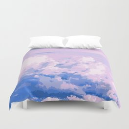Cotton Candy in Sky Duvet Cover