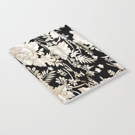 Black and White Flowers by Lika Ramati Notebook
