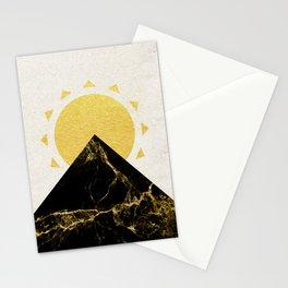 Golden sunrise in Montenegro Stationery Cards