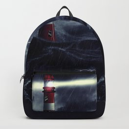 Stormy Sea and Lighthouse Backpack