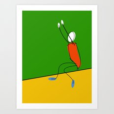 Long jumper / athlete Art Print