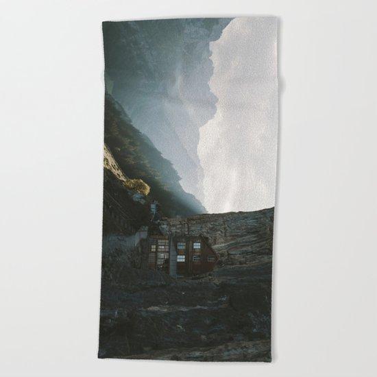 Mountain Cabin - Landscape Photography Beach Towel