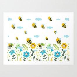 Bee Flaying Art Print