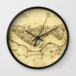 Original West Point Survey Map October 24th-27th 1783 Wall Clock