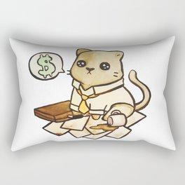 Business Cat Rectangular Pillow