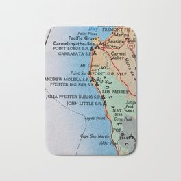 Californina Camping Map Bath Mat
