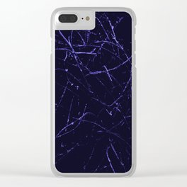 Blue and Black Abstract Photo Manipulation Splash Clear iPhone Case