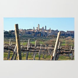 Tuscany's Town of Fine Towers Rug
