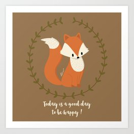 Renard roux // Red fox Art Print