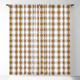 Geometric Multi Droplets Pattern - Earth Tones in Chocolate Brown & Cream Blackout Curtain