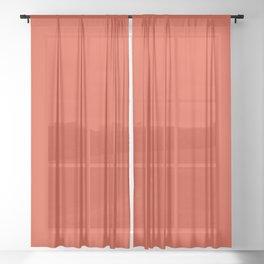 Tangerine Tango Sheer Curtain